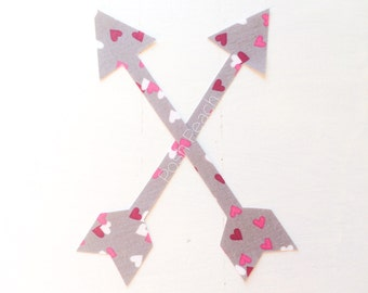 DIY Iron-on Appliques (2) - 'Be My Valentine' Arrows
