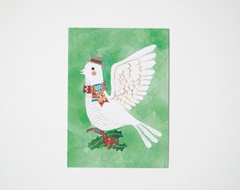 Folky Bird postcard