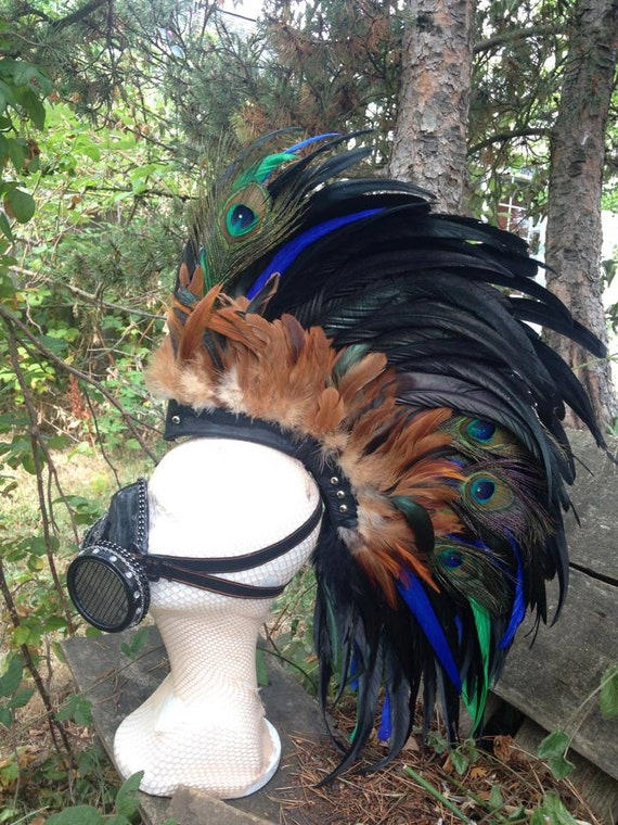 "Feather Mohawk Headdress  - ""The Celtic"""