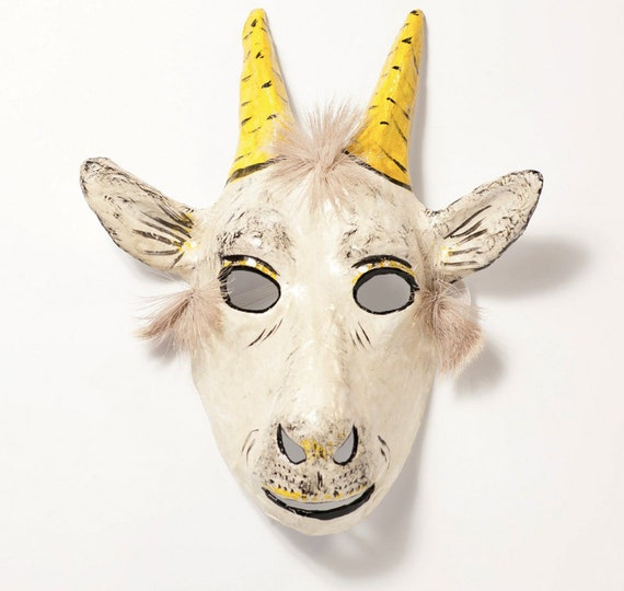 Paper Mache Goat Mask Reserved