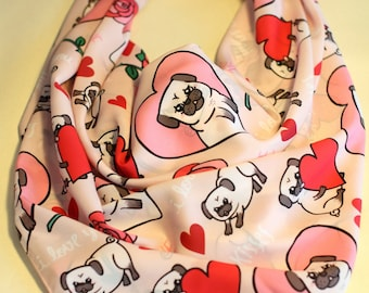 SALE Pug Love Scarf (limited time only!)
