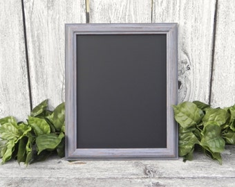 Shabby Chic 8 x 10 Light Gray Framed Chalkboard, Menu Chalkboard, Photo Prop Chalkboard, Wedding Sign Chalkboard