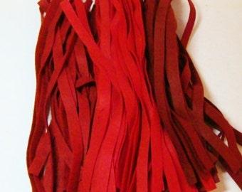 """Wool Felt Blend Die Cut 3/8"""" Strips- Choose a Color"""
