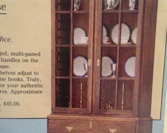 1984 Williamsburg Chippendale Bookcase The House of Miniatures No 51113 Rare