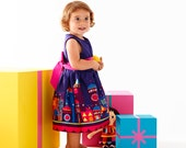 Girls party dress baby party dress for Christmas in purlple starry night fairytale print,sizes 6m,1T,2T,3T,4T,5T,6T