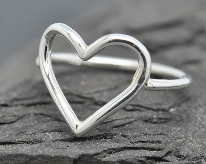 Heart Ring, Valentines heart, Love ring, sterling silver ring, best friend, promise, friendship, sisters, mom Ring, mothers day gift