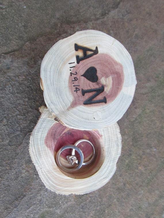Cedar Rustic Ring Bearer Box