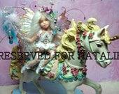 OOAK Fairy pixie baby doll unicorn polymer clay sculpture    IADR       free shipping