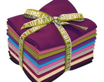 Kona Cotton Berry FAT QUARTER Bundle From Robert Kaufman
