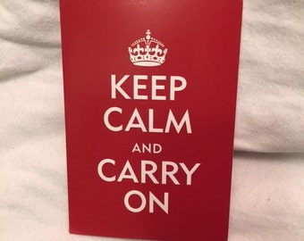 Passport Cover Keep Calm and Carry On