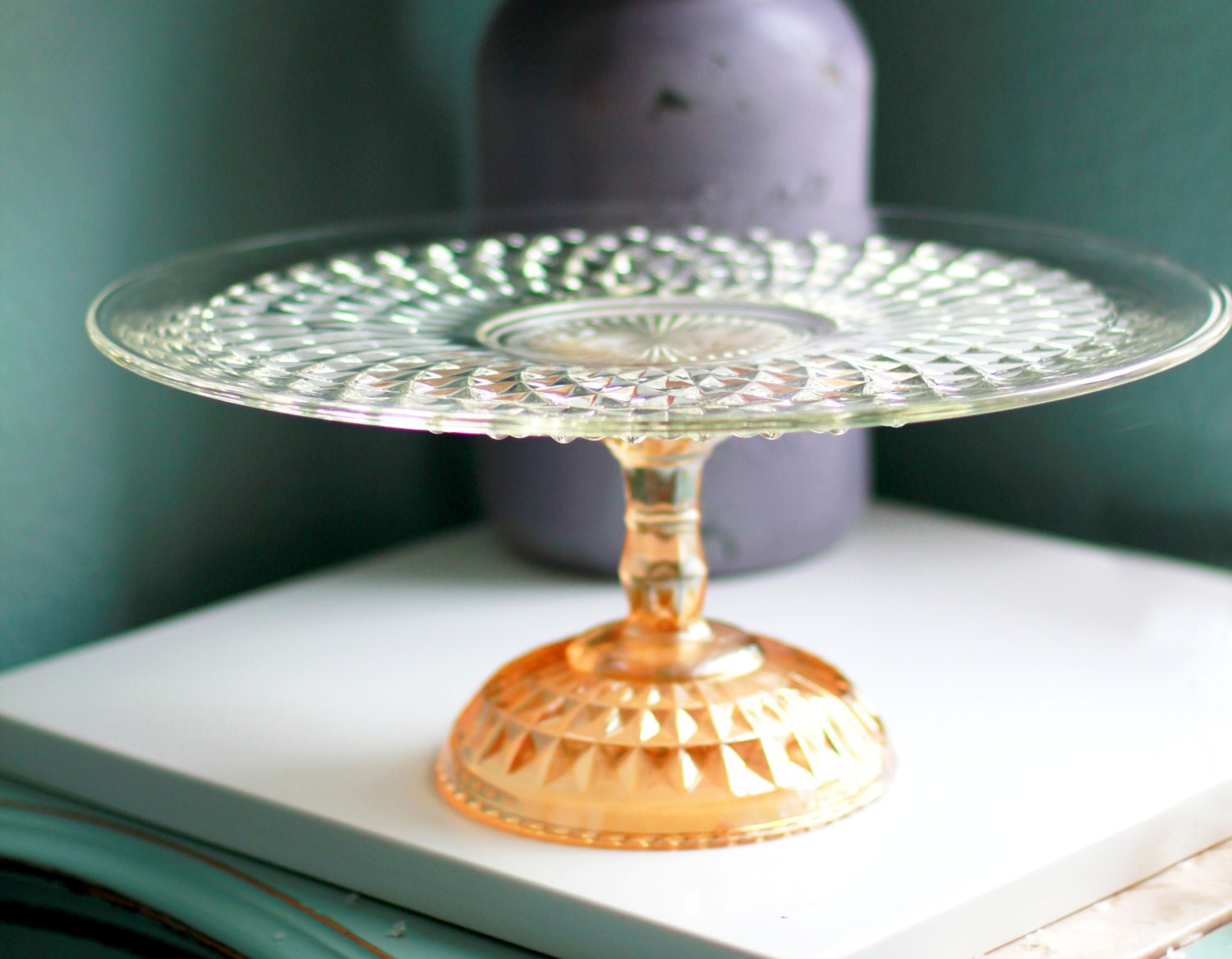 pedestal wedding cake stands gold cake stand for vintage gold weddings 15 glass 18181