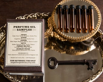 Signature Perfume Oil Sample Set - The Parlor Apothecary - 1 ml each