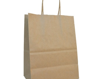 """8 x 5 x 10.5"""" - 100% Recycled Paper Shopper - Case of 250"""