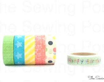 Washi Tape Set: Happy Birthday!