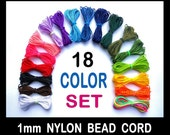 1mm Nylon Bead Cording - Blythe Doll Repair Cord - 18 Colors