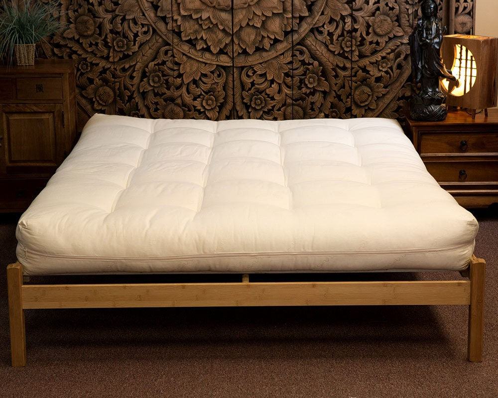 Queen Futon Organic All Cotton With Wool And Organic Cotton