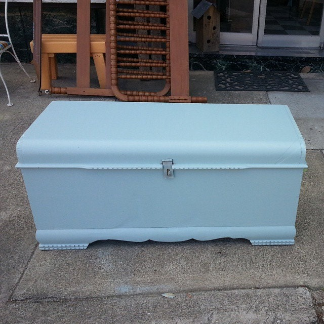 Vintage Cedar Chest Trunk Hope Chest Coffee Table By Furnitologist