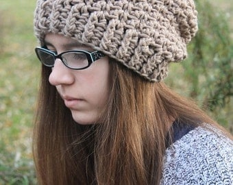 Crochet PATTERN - Crochet Slouchy Hat Pattern - Crochet Pattern Women - Crochet Hat Pattern - Baby, Toddler, Child, Women Sizes - PDF 298