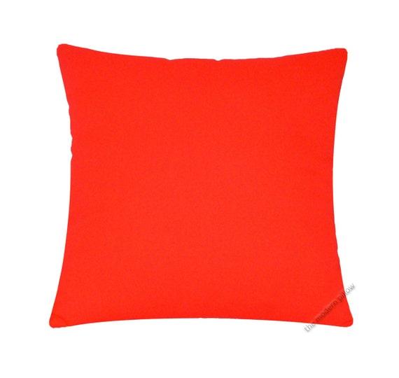 Solid Orange Decorative Pillows : Bright Orange Solid Decorative Throw Pillow Cover / Pillow Case / Cushion Cover / 20x20