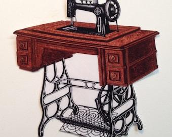Treadle Sewing Machine Iron On Applique