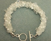 Kumihimo Woven White Hot Seed Bead and Nugget Bracelet