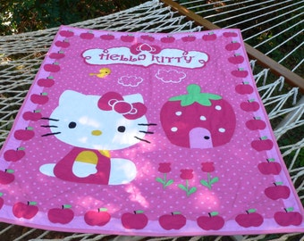 Pink Hello Kitty Strawberry Quilt