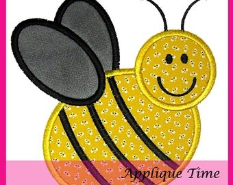 Instant Download Bee 3 Machine Embroidery Applique Design 4x4, 5x7 and 6x10