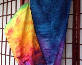 Rainbow Shibori Dyed Scarf