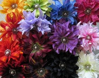 Dahlia Hair Flower Clip & Pin - 13 Color Choices!