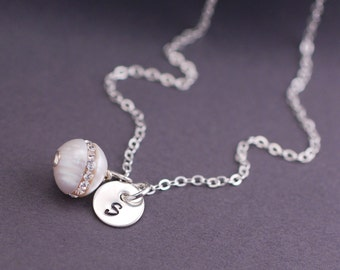 Will You Be My Bridesmaid Necklaces, EIGHT Bridal Party Jewelry Gifts, Pearl Necklaces for Bridesmaids