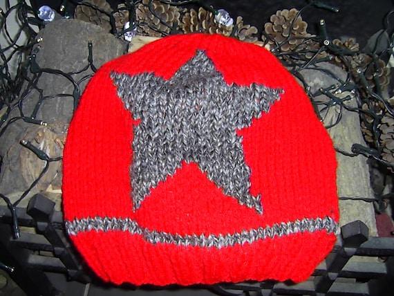 Jammer Beanie Knitting Pattern : jammer star roller derby beanie hat