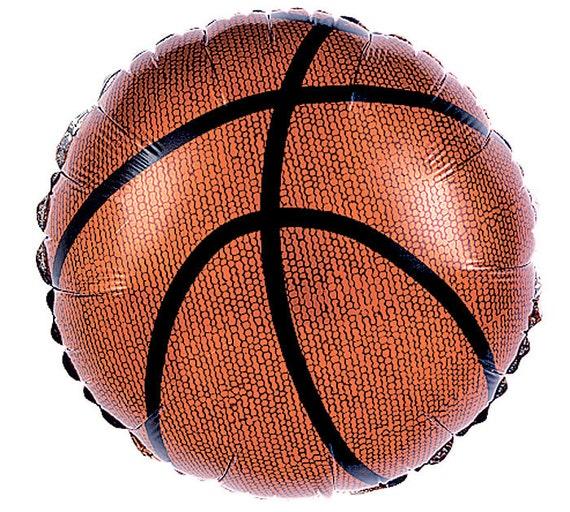 "Basketball Balloons - Mylar - 9"" - Preinflated - SET OF 8 BALLOONS"