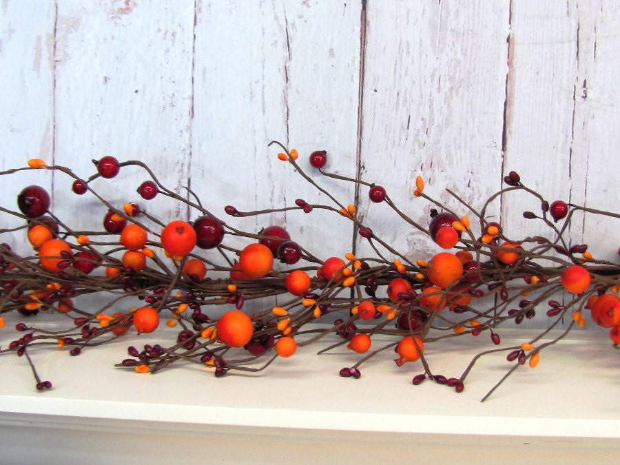On sale fall rustic decor thanksgiving garland by designawreath - Thanksgiving decorations on sale ...