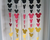 Black, Red, and Yellow Mouse Style Garland Strand, Mickey Birthday Party Decorations, Mickey Themed Party, Mickey Inspired backdrop