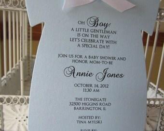 Oh Boy Themed Shower Invitation A little Gentleman Invitation Baby Shower