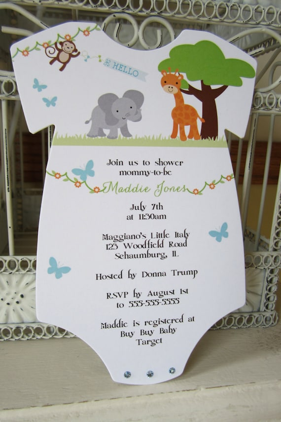 zoo or jungle theme baby shower invitation shower invitation