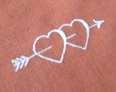 Embroidered Hankie, Linen Handkerchief, Handkerchief, Valentine's Day, Red, Hankerchief, Provenance, All Vintage Hankies, AllVintageHankies