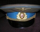 Vintage 1950's Kiev Ukraine Soviet Union Military Officers Parade Hat Size 59