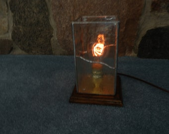 Edison Light- Stained Glass Table Light