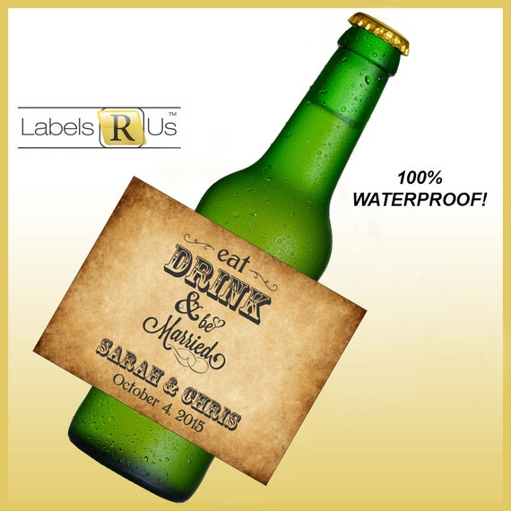 Beer/Wine Bottle Labels 100% Waterproof And Adhesive By