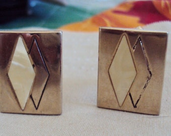 Swank Cuff Links with Double Marques