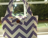SMALL Tote Bag Purse Bible Bag Book Pet Bag Grab and Go Delightful Duck Cloth For Her Gift Idea Teen Tween Under 20 Choice of Color Chevron