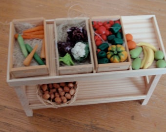 Dollhouse miniature grocery counter