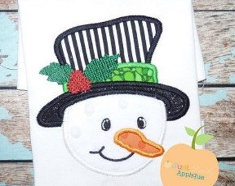 Julia Snowman Machine Embroidery Applique Design Buy 2 for 4! Use Coupon Code 50OFF