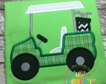 Golf Cart Machine Embroidery Applique Design Buy 2 for 4! Use Coupon Code 50OFF
