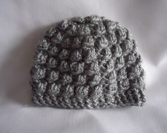 Crochet Bubble Hat, Newborn Size