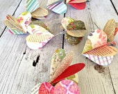 Paper Hearts Garland, Love - Wedding Garland - Engagement - Easter - Garden Party - Decoration - Valentines Garland - Made to Order