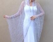 Grey Cobweb Cocoon Coat Halloween Costume