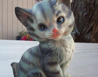 Gray Striped Kitten Figurine by Norleans