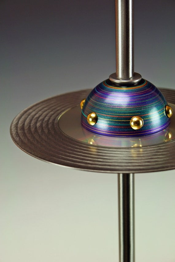 Ufo Table Lamp: Retro UFO Flying Saucer table lamps. 236. Steam punk industrial lamp. Mid  century,Lighting